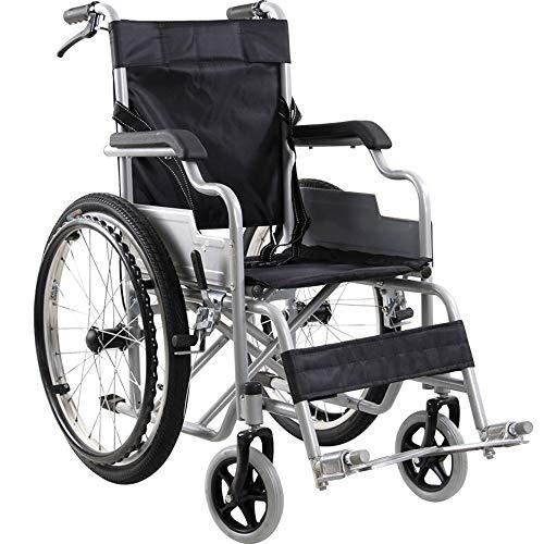 Ergonomischer Rollstuhl leichtes 14kg faltbarer Transport medizinisch bequeme Armlehne Rückenlehne Sitz Schaukel Beinauflage 100kg Lastaufnahme 38 * 40cm Sitz,Black