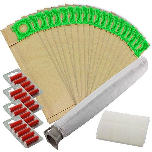 Spares2go Tas & Filter Service Kit Compatibel met Sebo X-serie & C-serie Stofzuiger (Pak van 5, 10, 20 Tassen + 2 Filters & Optionele Fresheners) 20 Bags + 20 Fresheners