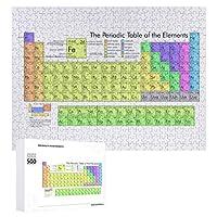 INOV 要素 大きい周期表 ジグソーパズル 木製パズル 500ピース 38 x 52cm 人気 パズル 大人、子供向け 教育玩具 ストレス解消 ギフト プレゼントpuzzle