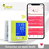 Sharon Bluetooth Wrist Blood Pressure Monitor compatible with Apple Health | Rechargeable Battery