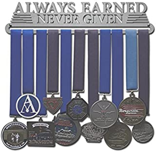 Allied Medal Hangers - Always Earned Never Given (Compact) - Multiple Medal Holder Display Rack