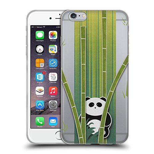 Head Case Designs Licenza Ufficiale Alyn Spiller Panda Bamboo Arte Animali Cover in Morbido Gel Compatibile con Apple iPhone 6 Plus/iPhone 6s Plus