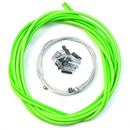 Vorcool - Cavo del freno per bicicletta, universale, per biciclette da strada, cavo di commutazione, pezzo complementare (verde)