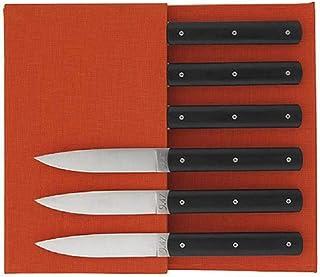 Estuche de cuchillos de mesa, color negro