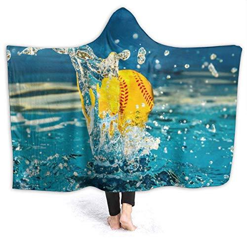 AEMAPE USA Water Pool Speed Ball Manta con Capucha para Mujer Manta de Franela súper Suave Sudadera con Capucha Usable, Bata con Capucha Capa con Capucha para Albornoz 50x40in
