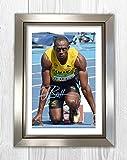 Engravia Digital Usain Bolt 1 Reproduktion Autogramm Foto