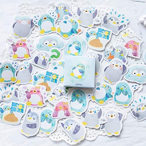 CAOLATOR 45 Blatt Mädchen Sticker Pinguin Aufkleber Kinder Deko Papier Stickerbögen für Scrapbooking Stickerbuch Stickeralbum Tagebuch Fotoalbum Notizbuch Kalender Dekoration