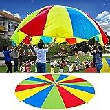 Changor Lightweight Kids Play Parachute, Calidad Paño de Poliéster Paño Poliéster Hecho Diseño de Colores Arco Iris (Arco Iris)