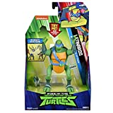 Tortues Ninja ROTMNT, Figurine Deluxe electronique 14 cm, LEO...