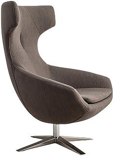 MHIBAX Gaming ChairDossier Réglable Rotation Canapé Chaise Tissu Balcon Swan Chaise Pivotante Simple