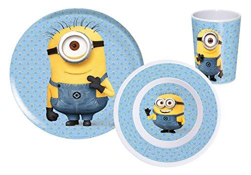 P: os 23924Minions–Set de desayuno (3piezas: plato, bol y taza