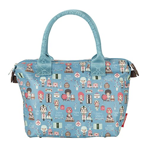 Travelite Lil'Ledy Buntes Reisegepäck/Rucksack/Kindertrolley/Handtasche/Handtasche/Reisekoffer, Weichschale, Hartschale, in Kawaii Optik, 32 cm, 11 l, türkis