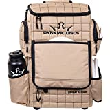 Dynamic Discs Combat Ranger Disc Golf Backpack   Large Main Compartment That Can Hold 18+ Discs   On-Deck Frisbee Golf Putter Pouch   Padded Back Panel and Straps for Extra Comfort (Sandstone)