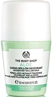 The Body Shop Aloe Caring Roll-On Deodorant, 50 milliliters
