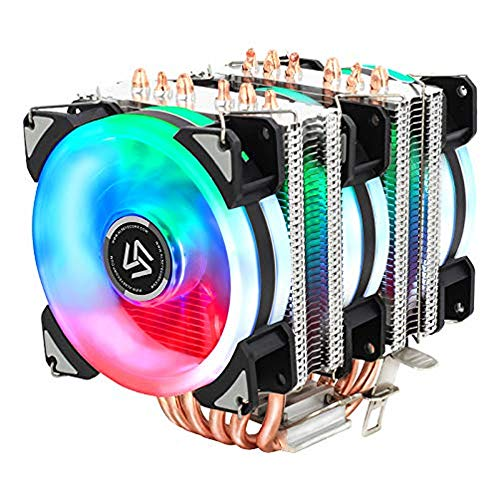 ALSEYE CPU Cooler, 90mm RGB CPU Fan 6 Heatpipes CPU Air Cooler 4 Pin Computer CPU Cooling Fan Radiator for Intel & AMD Motherboard CPU Cooling Easy Installation