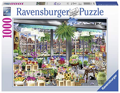 Ravensburger Amsterdam Flower Market 1000 Piece Jigsaw Puzzle for Adults & Kids Age 12 Years Up