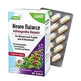 Salus Neuro Balance Bio Ashwagandha - Cápsulas para nervios y psicos, con vitaminas B, vegano, 90...
