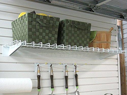 """GarageTek 48"""" Heavy Duty Steel Shelf Mounts on TekTrak or TekPanel"""
