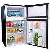 SIA UFF01BL 88L Black Freestanding Under Counter 2 Door Fridge Freezer A+ Energy