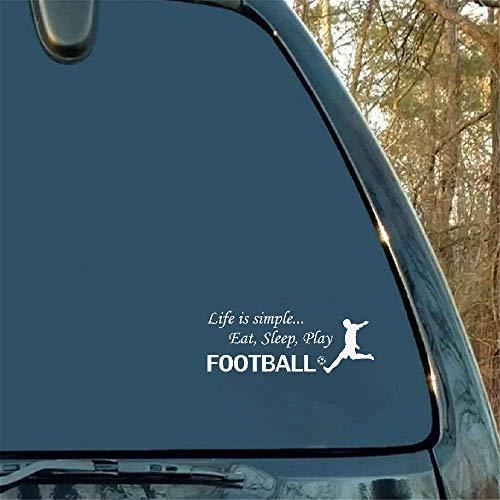 14,6 x 5,5 cm. Het leven is eenvoudig eten en slaap spelen voetbal sticker auto sticker buitendecoratie Fender Trunk embleem badge