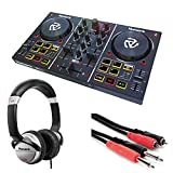 Numark Party Mix | Starter DJ Controller with Built-In Sound Card & Light Show + Stereo...