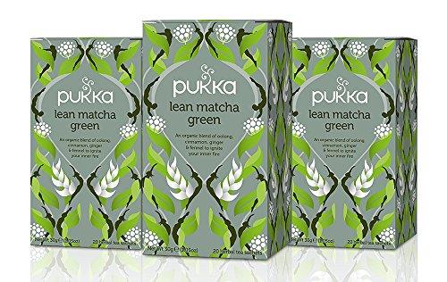 Pukka Tea Bag Organic Lean Matcha Green 20 Tea Bags, Pack of 3