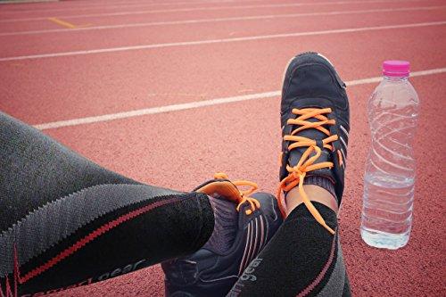 Camari Gear Sports Waden Kompressionsstrümpfe (PAAR) – Calf Sleeves für Männer & Frauen – Wadenbandage für Schnelle Erholung, Bessere Blutzirkulation, Laufen, Radfahren, triathlon, Flugreisen, Krankenschwestern - 4