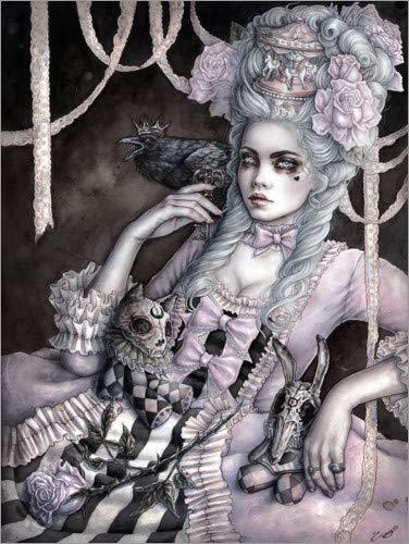 Posterlounge Leinwandbild 70 x 90 cm: Rokoko-Traum von Enys Guerrero - fertiges Wandbild, Bild auf...