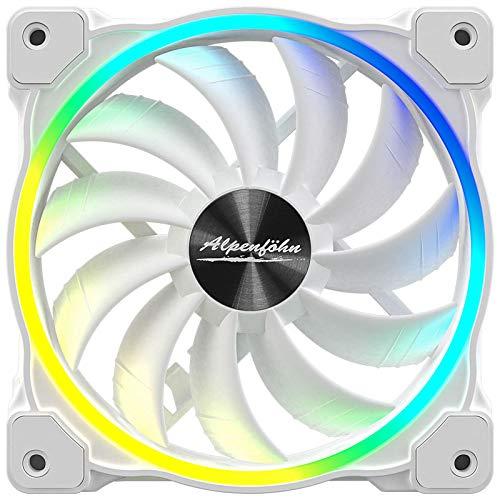 Alpenföhn - Wing Boost 3 ARGB mit 120mm mit 1 PWM Lüftern Gehäusekühler, CPU Kühler aben einen Maximalen 1600RPM Lüfter Kompatiblen Kühler Innenraum PC Gehäuse.
