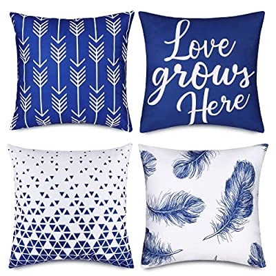 Amazon - 40% Off on Throw Pillow Covers 18 x 18 Set of 4, Modern Geometry Square Pillowcases