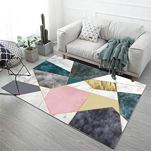 cuadros cabecero cama matrimonio alfombras oficinas Dormitorio sala de estar alfombra geométrica de color a juego moderno rectangular antideslizante habitaciones juveniles 200X300CM 6ft 6.7'X9ft 10.1'