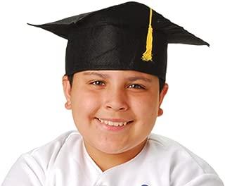 Child Size Graduation Caps - Black Felt, 12-Pack