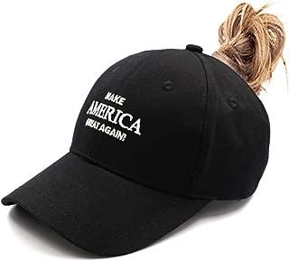 Womens Ponytail Messy High Buns Mesh Trucker Ponycaps Plain Baseball Cap Dad Hat Adjustable Size,Variy Styles and Colors