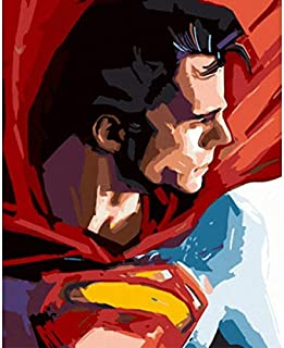 superman paint by numbers