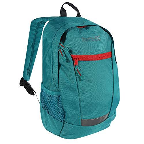 Regatta Jaxon III Hardwearing Reflective Padded Day Backpack - Ceramic/Coral Blush, 10 Litre