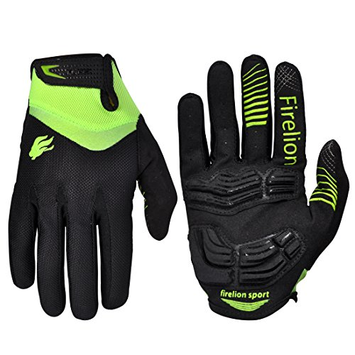 Product Image FIRELION Cycling Gloves Breathable Mountion Bike Bicycle Gloves - Gel Pad MTB DH Anti-Slip Shock-Absorbing