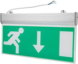 Tosuny LED Combo Exit Sign Emergency Light, Light High Bright LED Light Source, Automatic Detect and Repair Breakdown Voice Alarm Reminder fits for Malls, Supermarkets etc 110-220V
