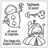 イタリアの漫画の動物スクラップブッキング用のクリアスタンプタンポン透明シールの背景スタンプカード作るDiy男の子ランニングd
