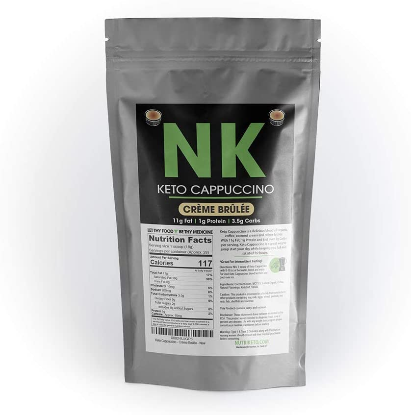 NutriKeto New outlet arrival Keto Cappuccino Creme Brulee