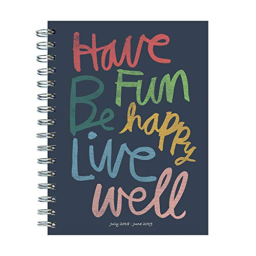 TF Publishing 19-9244A July 2018 - June 2019 Have Fun by Hallmark Medium Weekly Monthly Planner, 6.5 x 8