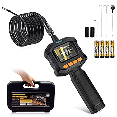 [Batteries Included] ERAY Flexible Borescope Inspection Camera, Handheld 3.3FT Industrial Endoscope with 2.3inch Color LCD Screen