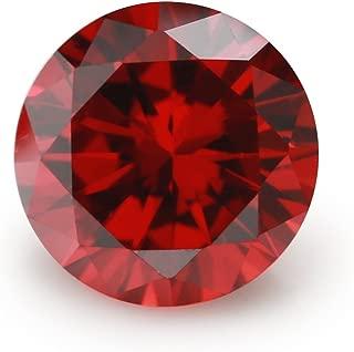 500PCS Size 2.0mm 5A Round Machine Cut Garnet Color Cubic Zirconia Stone Loose CZ Stones (2.0mm 500pcs)