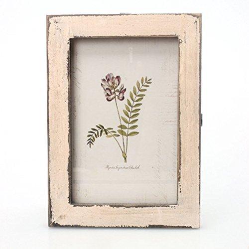 WINOMO Retro Vintage 6 Zoll Holz Foto Bilderrahmen für Home Shop Shop Dekoration (Beige)
