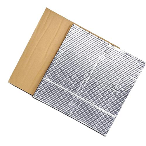 Runfon Platform Hot Bed Insulation Hotbed Thermal Pad Insulation Foam Mat 3D Printer Heated Bed Thermal Insulation Cotton 2PCS Silver