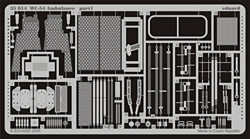 Eduard Accessories 35814 Modellbauzubehör WC-54 Ambulance für Italeri Bausatz