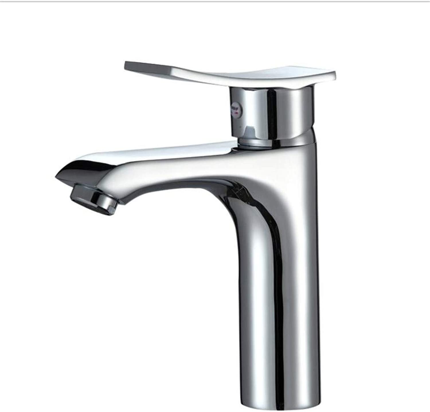 Bathroom Sink Basin Lever Mixer Tap Copper Cold and Hot Basin Faucet Single Hole Mixed Valve Faucet