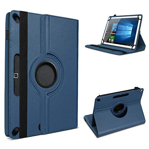 UC-Express Tablet Hülle kompatibel für Odys Space One 10 Tasche Schutzhülle Cover Schutz Hülle 360° Drehbar Klapphülle, Farben:Blau