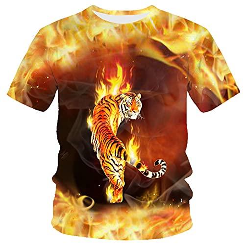 XDJSD Camiseta para Hombre Camiseta Corta De Manga Corta Camiseta De Gran Tamaño Camiseta con Cuello Redondo Camiseta para Hombre Camiseta Suelta Top Estampado Camiseta De Manga Corta