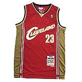 Lebron James-Cleveland Cavaliers - Camiseta de baloncesto para hombre, talla 90, estilo retro, edición conmemorativa, transpirable, 2XL