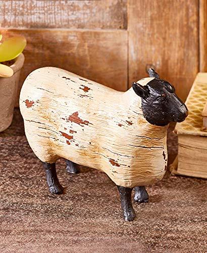 Better Home Space Farmhouse Decor Farm Animals   Animal Figures  Farm Toy  Animal Sculpture and Animal Statues  Cow Sculpture Sheep Sculpture  Goat Sculpture  Pig Sculpture Rustic Farmhouse (Sheep)